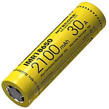 Аккумулятор литиевый Li-Ion IMR 18650 Nitecore 3.7V (30A, 2100mAh)
