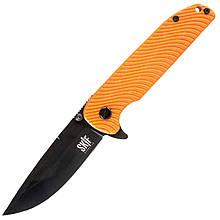Нож складной Skif Bulldog 733Н (длина: 234мм, лезвие: 100мм, черное), оранжевый