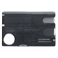 Набор Victorinox Swisscard Nailcare (82x54x4мм, 13 функций) черный прозрачный 0.7240.T3