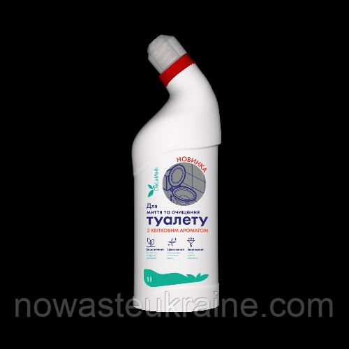 Еко-засіб для миття і очищення унітазу DeLaMark з квітковим ароматом, 1 л