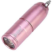 Ліхтар Wuben G343 (Cree XP-G2, 130 люмен, 2 режими, USB) з ланцюжком, рожеве золото