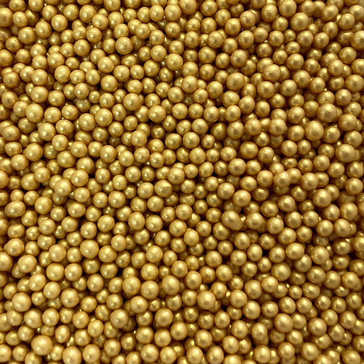 Сахарные шарики золотые 5мм мягкие (100г)
