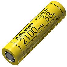 Аккумулятор литиевый Li-Ion IMR 18650 Nitecore 3.7V (38A, 2100mAh)