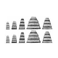 Клинья Распорные Для Молотка(Топора)Кувалды 28x32, 25x21, 25x12, 18x10, 17x8; 10 шт VOREL 99472