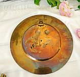 Старая настенная бронзовая тарелка, барельеф, декор, бронза, литье, Германия, на подарок, фото 4