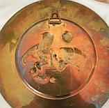 Старая настенная бронзовая тарелка, барельеф, декор, бронза, литье, Германия, на подарок, фото 5