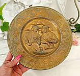 Старая настенная бронзовая тарелка, барельеф, декор, бронза, литье, Германия, на подарок, фото 3