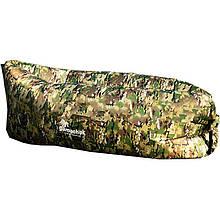 Шезлонг надувной Gamachok (240х75см), нейлон рип-стоп, камуфляжный