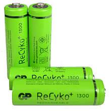 Акумулятор металогідридний Ni-MH AA GP ReСyko, 1.2 V (1300mAh), 4шт. в блістері