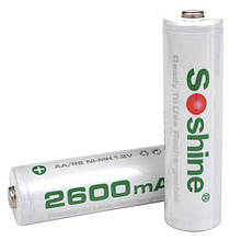 Акумулятор металогідридний Ni-MH RTU AA (R6) Soshine 1.2 V (2600mAh), 4шт., блістер