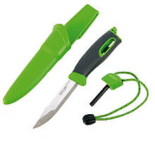 2 в 1 - Нож + огниво LIGHT MY FIRE FireKnife (22.5х4.5х4.5см), зеленый