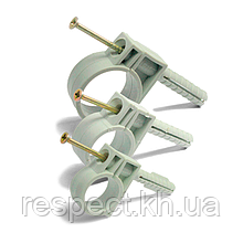 Обойма для труб Ø 34мм з ударним шурупом