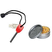 Набор для розжига LIGHT MY FIRE FS Scout +Tinder Combo (огниво, сосновая стружка), красный