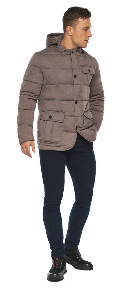 Куртка – воздуховик на зиму мужской ореховый модель 35230