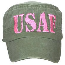 Кепка Eagle Crest Usaf Pink Letter-OD Flat Top-5, оливковая