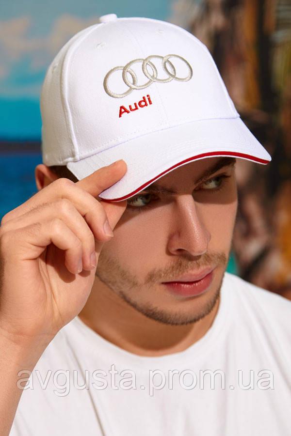 Чоловіча кепка «Audi» (1329) (білий)