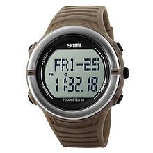 Часы, фитнес-трекер Skmei 1111, кофе, в металлическом боксе