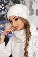Комплект «Шарлін» (шапка і шарф-хомут) (білий)