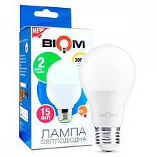 Світлодіодна лампа BIOM BT-515 А65 15W E27 3000K (Груша)