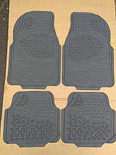 Авто килимки резинові універсальні! Килимки в салон автомобіля (комплект 4 шт.) Сірий. KCM-893