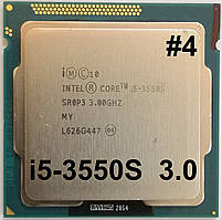 Процессор ЛОТ #4 Intel Core i5-3550S E1 SR0P3 3.0GHz up 3.7GHz 6M Cache Socket 1155 Б/У