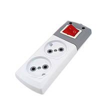 Колодка DE-PA YLDIZ 2r н. без заземлення з кнопкою