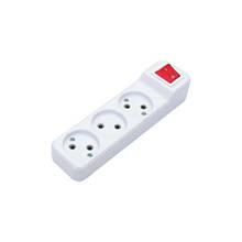 Колодка DE-PA 3гн. без заз. з кнопкою