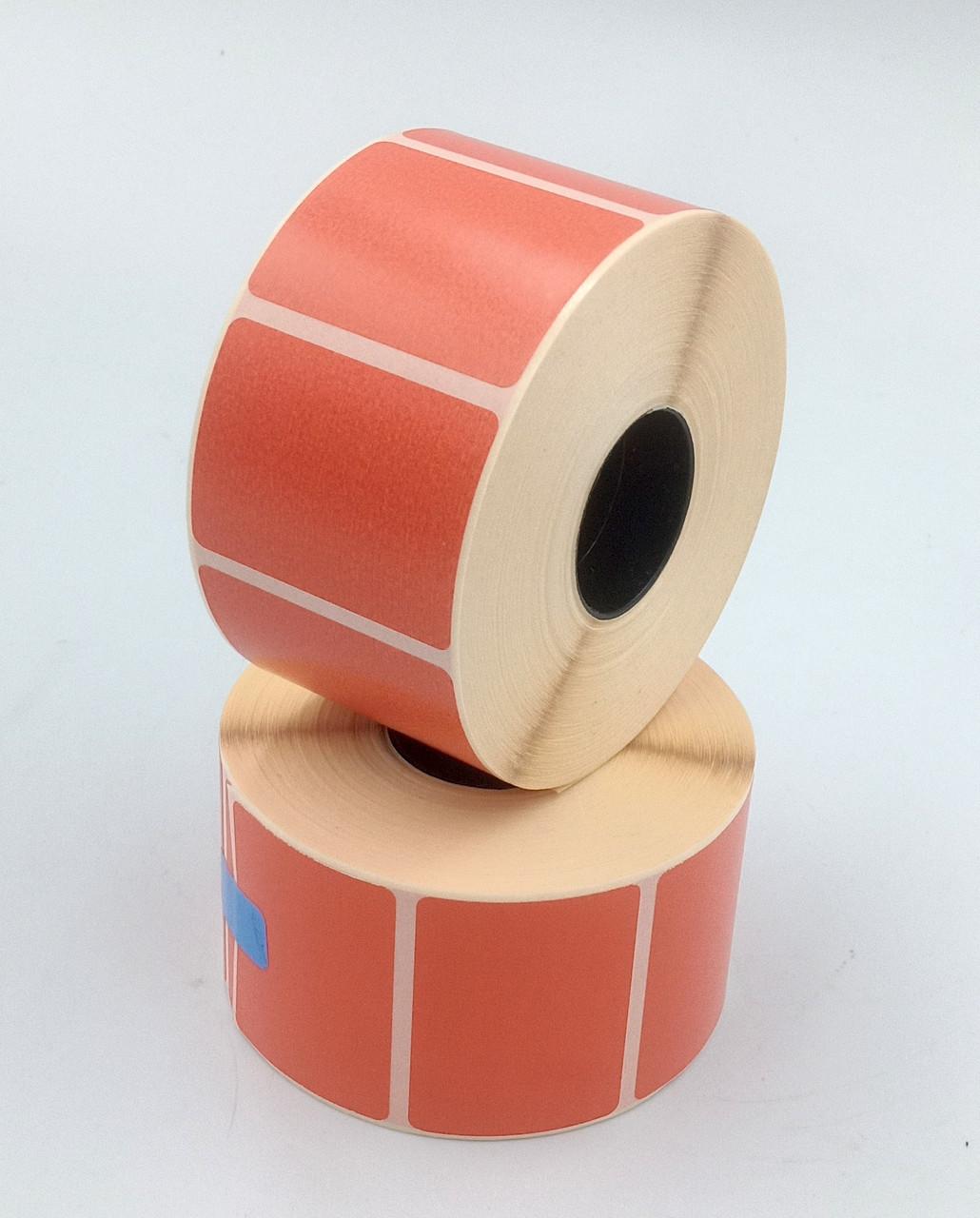 Mobitehnika Термоетикетка для весов, етикеточних принтерів Т.Еко пантон червона 40*30 1000шт вт. 25мм