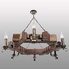 Люстра підвісна 6 свічок Е14 серії Кування Свічка 780326