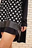 Платье-туника женское ассиметричное в горох батал (черный, р.50-60), фото 5
