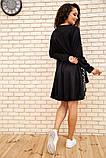 Платье-туника женское ассиметричное в горох батал (черный, р.50-60), фото 4