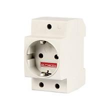 Розетка з заземленням на DIN-рейку 16A E-Next e.socket.pro.din.tms