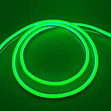 Світлодіодний Neon BIOM SMD2835-120 led 12V IP68 8x16 Стандарт Зелений