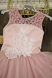 Длинное нарядное платье Кружево на 5-7 лет, фото 4