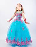 Длинное нарядное платье Кружево на 5-7 лет, фото 7