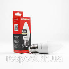 Лампа світлодіодна ETRON Power Light 1-ELP-025 C37 6W 3000K 220V E27