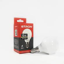 Лампа світлодіодна ETRON Power Light 1-ELP-047 G45 6W 3000K 220V E14