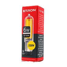 Лампа світлодіодна ETRON Power Light 1-ELP-082 G9 Glass 6W 4200K 220V