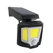 LED настінний поворотний світильник на сонячній батареї VARGO 10W COB