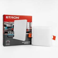 Світильник ETRON 1-EDP-655 12W 5000К ІР20 квадрат