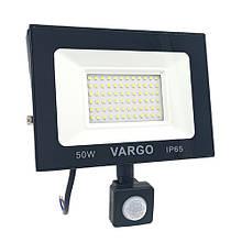 LED прожектор з датчиком руху VARGO 50W 6500K 220V