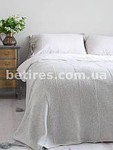 Покрывало шерстяное 150x200 BETIRES BALL GRAY (50% шерсть, 50% акрил) серый
