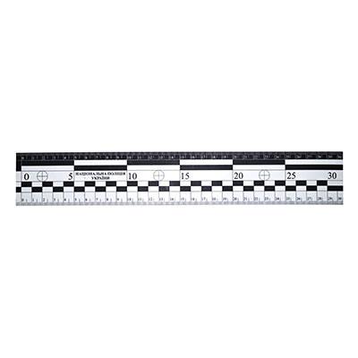 Лінійка масштабна магнітна з ліпленням Національна поліція 30 см