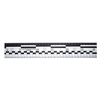 Лінійка масштабна магнітна з ліпленням Національна поліція 30 см, фото 2