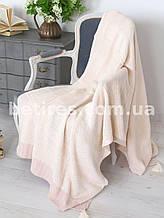 Покрывало шерстяное 150x200 BETIRES BALL POWDER (50% шерсть, 50% акрил) розовый