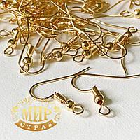 Швенза крючок, золотого цвета  (родиевое покрытие) 15х14мм  1пара