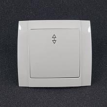 Вимикач одинарний внутрішній прохідний Yaweitai YW-2510 Білий