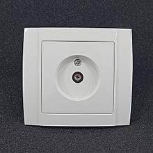 Розетка одинарна TV внутрішня Yaweitai YW-2508 Біла
