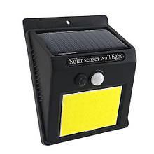 LED світильник на сонячній батареї VARGO 5W COB c датчиком Чорний