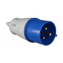 Вилка АВаТар 2P+PE 32А IP44 standart type 023